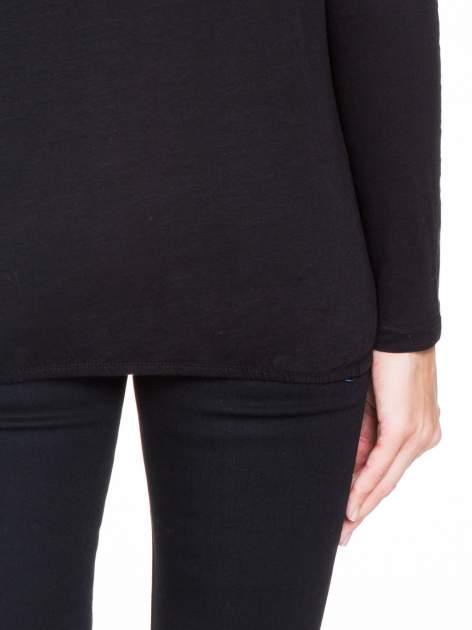 Czarna bluzka z koronkowym karczkiem                                  zdj.                                  8