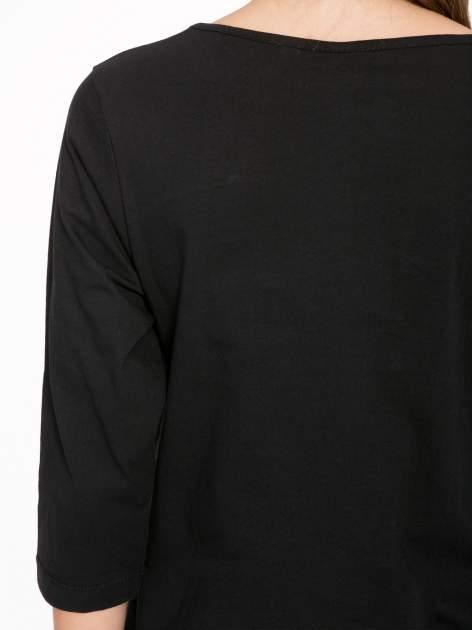 Czarna bluzka z motywem Paryża                                  zdj.                                  8