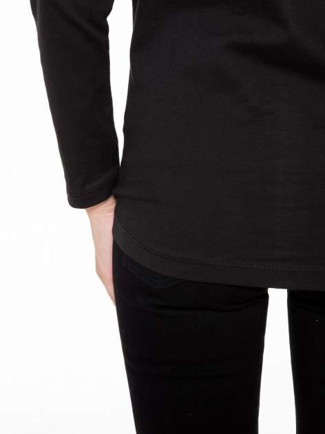 Czarna bluzka z nadrukiem kota z koroną i napisem MEOW                                  zdj.                                  10