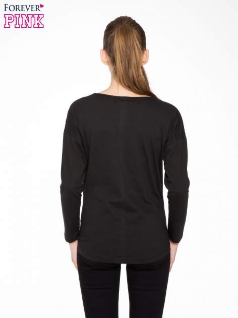 Czarna bluzka z nadrukiem kota z koroną i napisem MEOW                                  zdj.                                  4