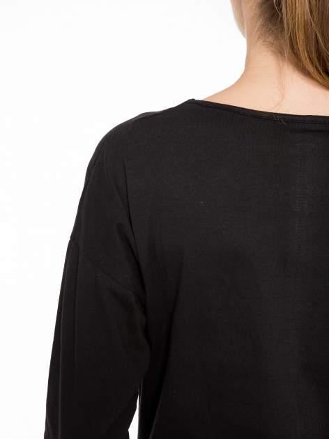Czarna bluzka z nadrukiem kota z koroną i napisem MEOW                                  zdj.                                  9