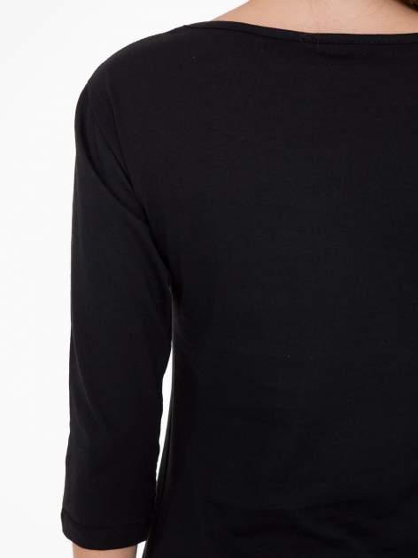 Czarna bluzka z nadrukiem loga Instagrama                                  zdj.                                  8