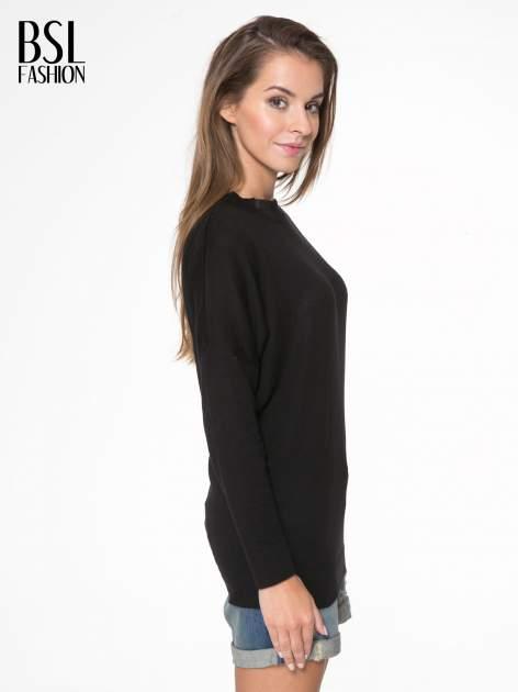 Czarna bluzka z obniżoną linią ramion                                  zdj.                                  3