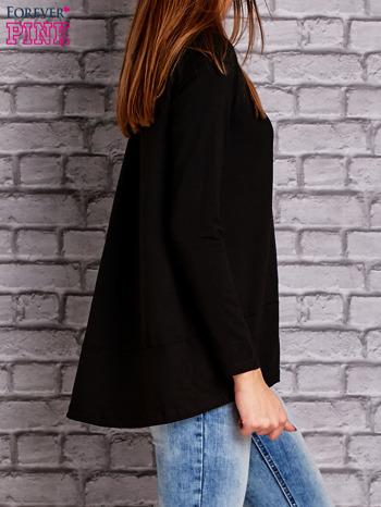 Czarna bluzka z wiązaniem na plecach                                  zdj.                                  3
