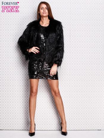 Czarna cekinowa sukienka                                  zdj.                                  5