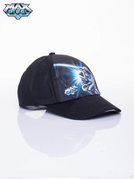 Czarna chłopięca czapka z daszkiem MAX STEEL                                  zdj.                                  2