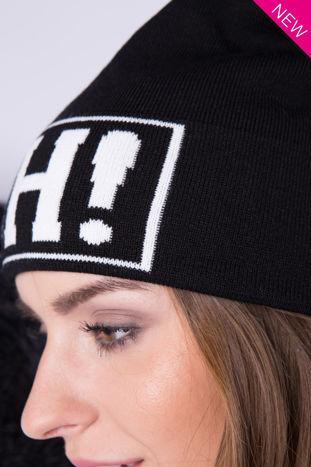 Czarna czapka beanie z napisem OH                                  zdj.                                  1