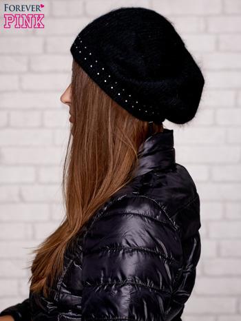 Czarna czapka z dżetami                                  zdj.                                  2