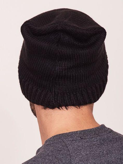 Czarna czapka zimowa męska                              zdj.                              3