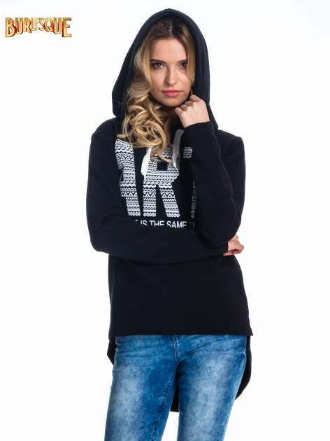 Czarna damska bluza z kapturem i napisem ART                                  zdj.                                  5