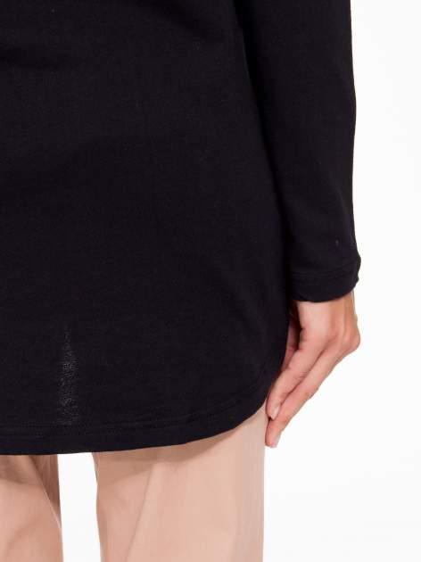 Czarna dresowa tunika z kominokapturem                                  zdj.                                  10
