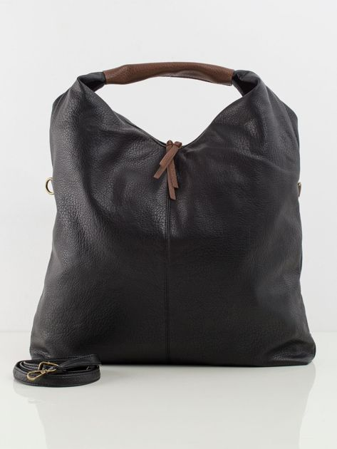 Czarna duża torba damska