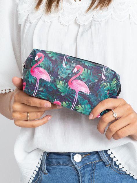 Czarna duża torba z flamingiem                              zdj.                              4