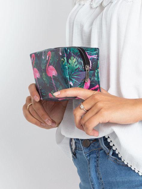 Czarna duża torba z flamingiem                              zdj.                              5