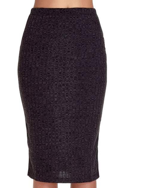Czarna dzianinowa spódnica za kolano                                  zdj.                                  5