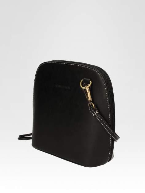 Czarna elegancka listonoszka z odpinanaym paskiem                                  zdj.                                  3