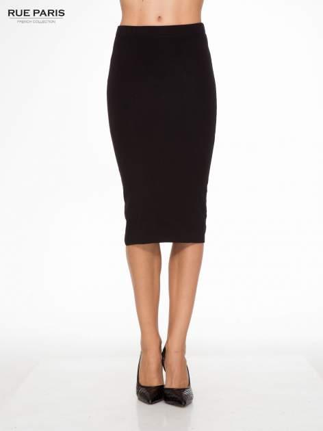 Czarna elegancka spódnica ołówkowa do kolan                                  zdj.                                  1