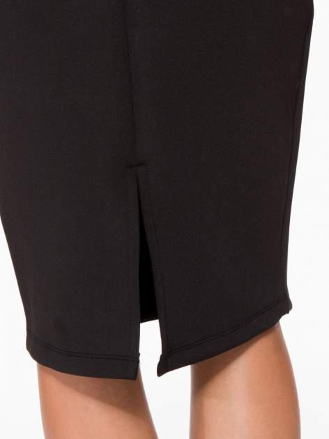 Czarna elegancka spódnica ołówkowa do kolan                                  zdj.                                  7