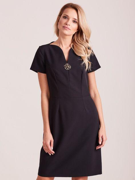 Czarna elegancka sukienka                               zdj.                              1