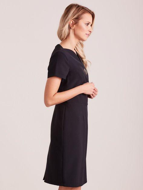Czarna elegancka sukienka                               zdj.                              3