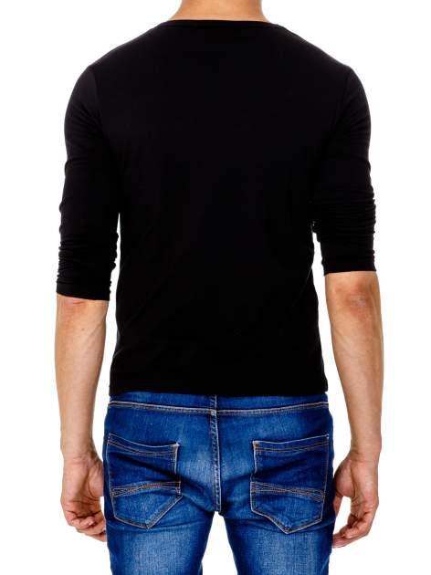 Czarna gładka koszulka męska longsleeve                                  zdj.                                  5