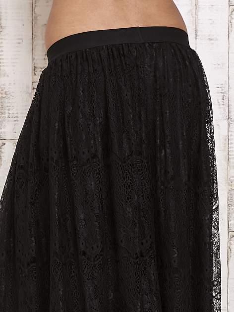 Czarna koronkowa spódnica maxi                                  zdj.                                  5