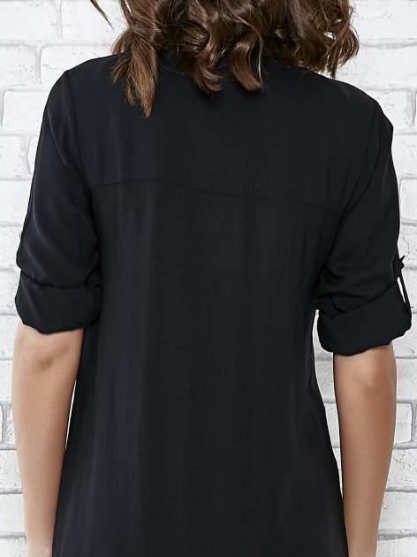 Czarna koszulotunika z kieszonkami                                  zdj.                                  6