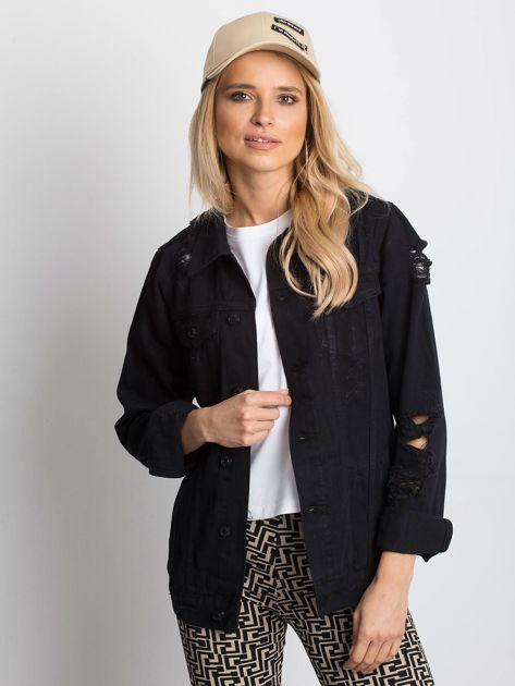 Czarna kurtka jeansowa Pairing                              zdj.                              1