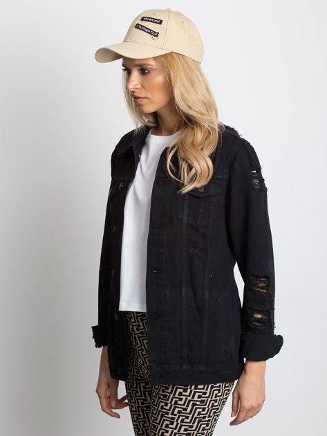 Czarna kurtka jeansowa Pairing                              zdj.                              3