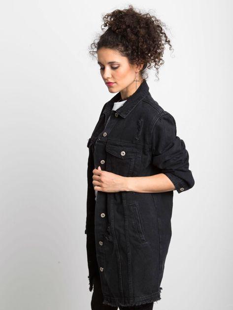Czarna kurtka jeansowa Source                              zdj.                              3
