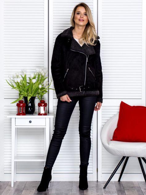 Czarna kurtka z kożuszkiem                               zdj.                              4