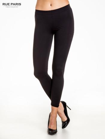Czarna legginsy z dżetami wzdłuż nogawki                                  zdj.                                  1