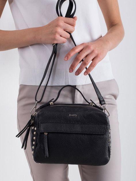 Czarna mała torebka ze skóry