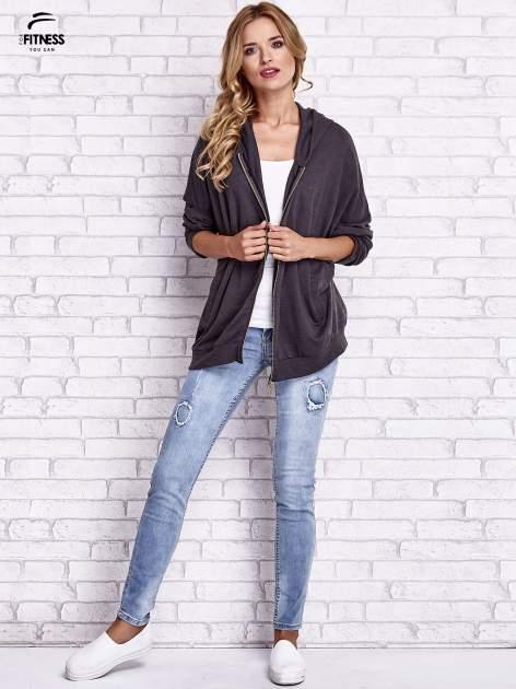 Czarna melanżowa bluza oversize                                  zdj.                                  11