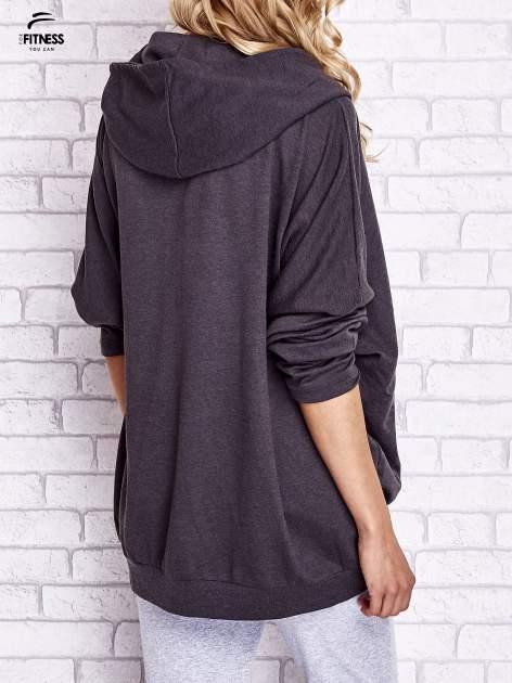 Czarna melanżowa bluza oversize                                  zdj.                                  2