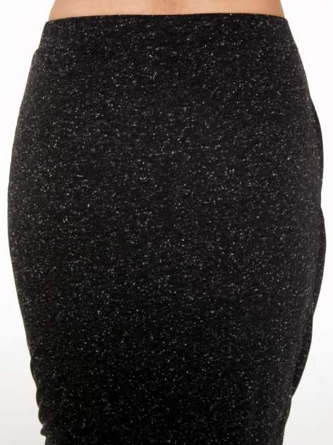 Czarna melanżowa spódnica z drapowaniem                                  zdj.                                  9