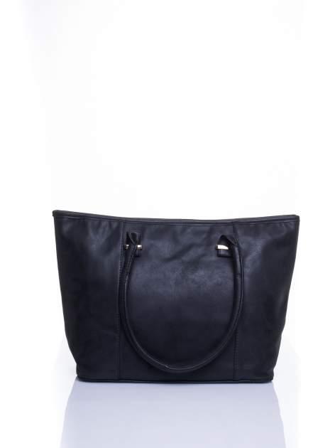 Czarna miękka torba shopper bag