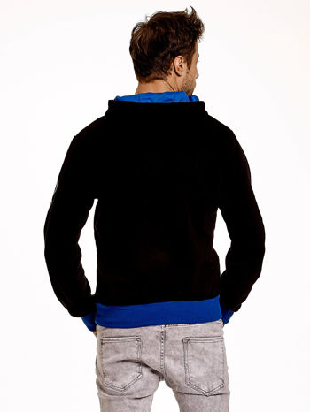 Czarna ocieplana bluza męska z napisem CALIFORNIA i kapturem                                  zdj.                                  3
