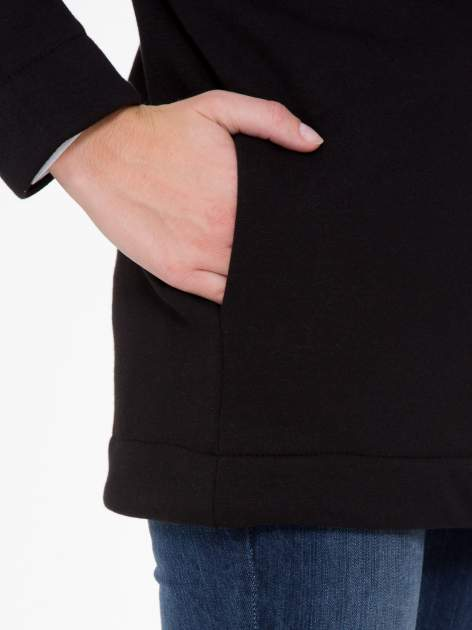 Czarna otwarta bluza dresowa                                  zdj.                                  7
