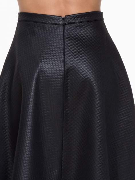 Czarna pikowana spódnica midi                                  zdj.                                  6