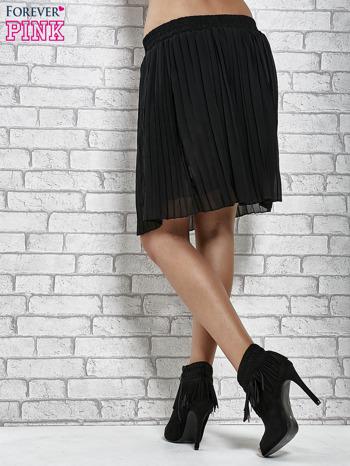 Czarna plisowana spódnica do kolan                                  zdj.                                  7