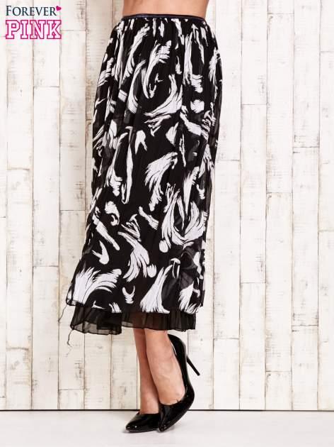 Czarna plisowana spódnica midi z brokatem                                  zdj.                                  2