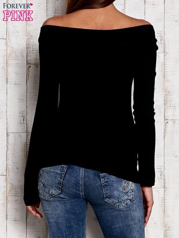 Czarna prążkowana bluzka                                  zdj.                                  4