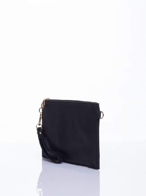 Czarna prosta przewieszana torebka z uchwytem                                  zdj.                                  3