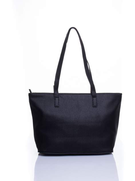 Czarna prosta torba shopper bag                                  zdj.                                  3