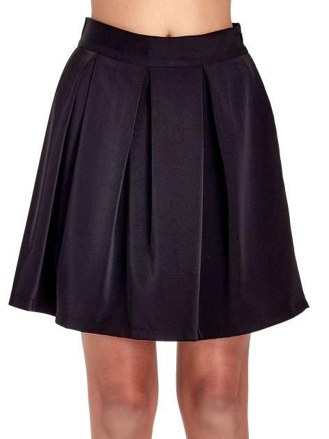 Czarna rozkloszowana spódnica z kontrafałdami                                  zdj.                                  5