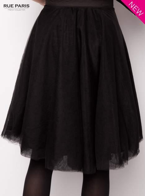 Czarna rozkloszowana tiulowa spódnica                                  zdj.                                  4