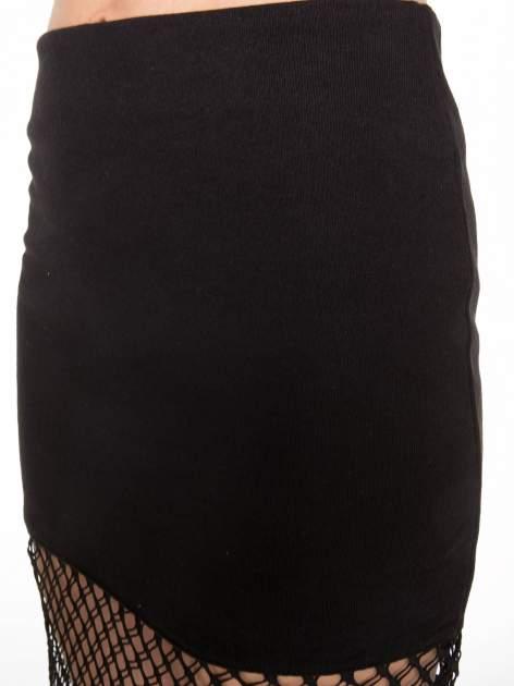 Czarna spódnica do kolan z siatki                                  zdj.                                  6