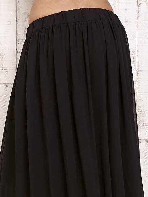 Czarna spódnica maxi na gumkę w pasie                                  zdj.                                  5