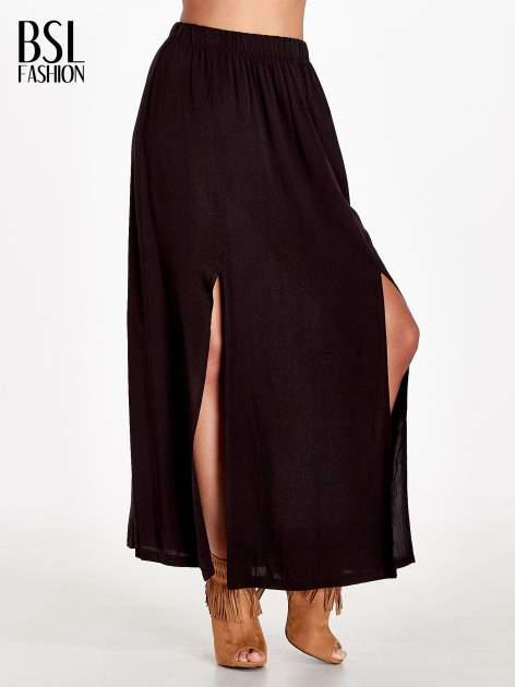 Czarna spódnica maxi z rozporkami